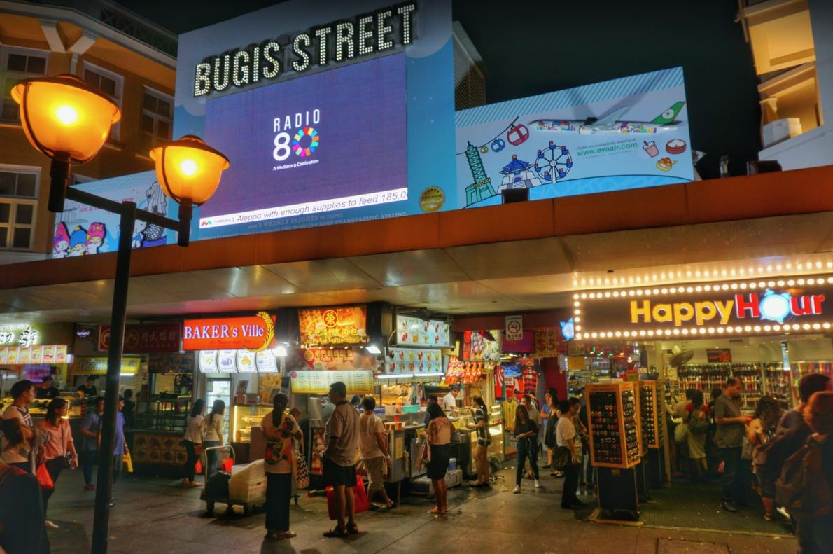 Bugis Street Area Shopping in Singapore