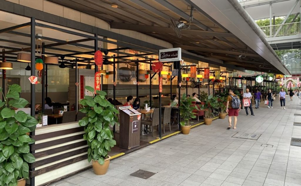 Cuppage Terrace Food area in Singapore