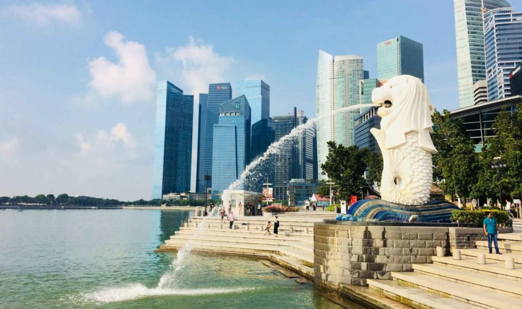 Merlion Park in Singapore